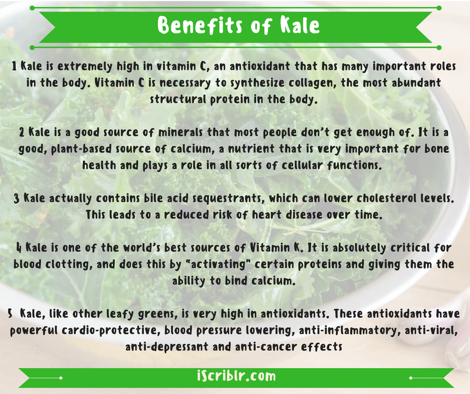 Effects of kale